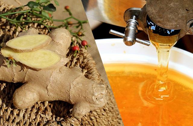 生姜と蜂蜜