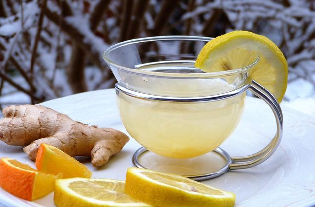 生姜の蜂蜜とレモン